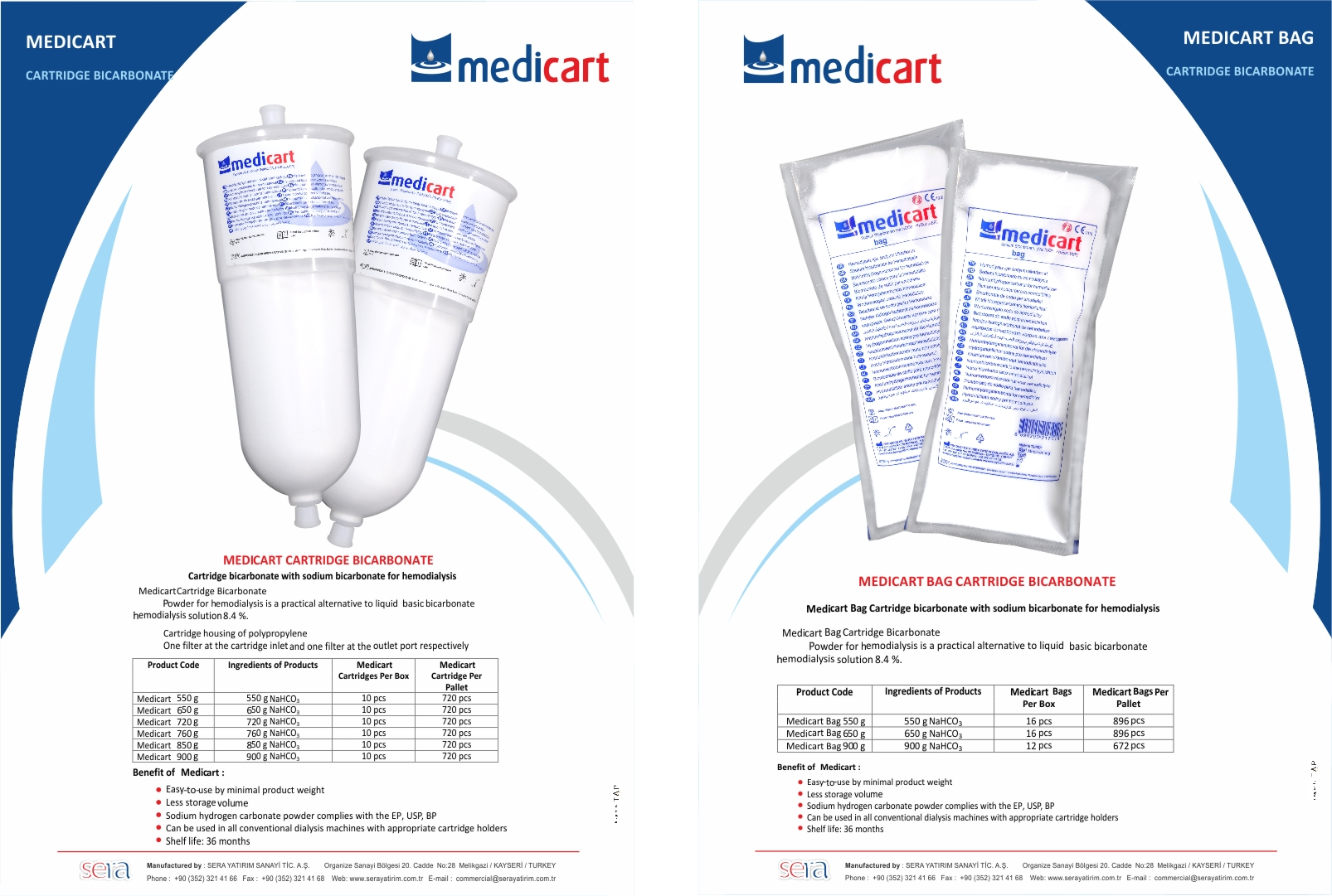 Medicart Bag Cartridge Bicarbonate Brochure